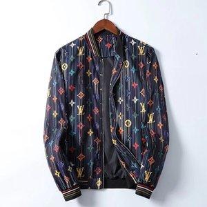 2019 New Fashion Brand Jacket Men Winter Autumn Slim Fit Mens Designer Clothes Red Men Casual Jacket Slim Plus Size M-3XL