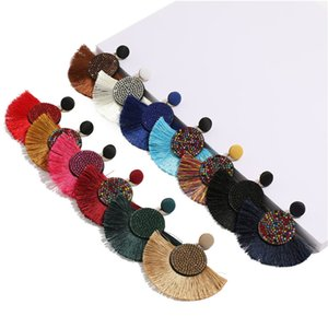 Europe and the United States new bohemian rice beads earrings women fashion creative personality drop earrings