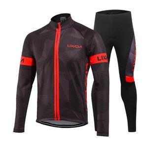 NEW ветрозащитного руна Одежда Set Куртка Мужчины Женщина езда водонепроницаемого Cycle зима с длинным рукавом Джерси пальто куртка брюки брюки