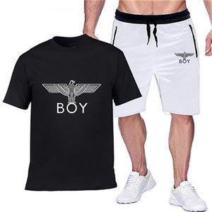 Men's sports suit designer brar suit two-piece men's T-shirt and shorts training sports men's leisure fitness joggers