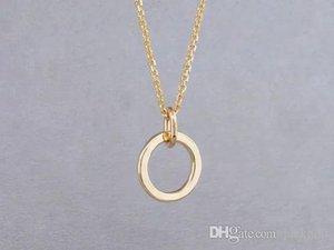 10PCS esquema simple collar círculo grueso aro Eternidad Karma Círculo abierto Collar martillado círculo geométrico redondo Collares