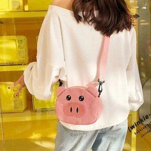 Women Bag Small Handbag Shoulder Tote Satchel Ladies Pig Messenger Cross Body Canvas Bag Student Multi Pocket Shoulder