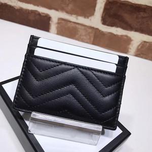 Envío libre del bolso de las mujeres famosas de la marca de moda vende alta calidad monedero de piel de oveja de lujo clásico Marmont titular de la tarjeta de bolsillo