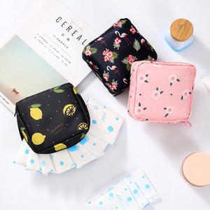 Cartoon Reise Außen Halter sackt Geldbeutel Sanitary Pad Tuch-Beutel-Frauen-Dame Cotton Flower Sanitary Napkin Taschen
