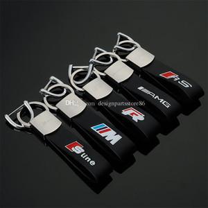 3D Car Keychain M Performance S line For BMW M3 M5 E36 E39 F10 F30 For BENZ AMG Audi A4 A6 A8 Q3 Q7 Metal Key Ring Auto Key Chain