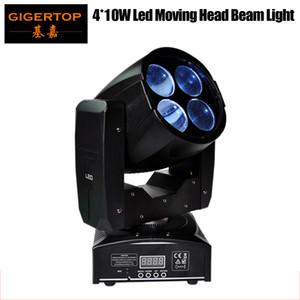 TIPTIP Amostra 4x10W Mini Led cabeça móvel Super feixe de luz lente rotativa prisma Gobo Efeito DMX 512 Controlo 4 / 16CH 55W 90V-240V