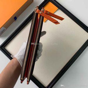 Sieben-Farben-Brief Blume Design-Element Brieftasche faltbaren Doppel-Reißverschluss Handtasche PVC Männer und Frauen Handtasche Brieftasche kommt mit BOX