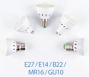 GU10 LED Lampe E27 E14 Scheinwerfer-Birne 48 60 80leds lampara GU10 bombillas führte MR16 GU5.3 Lampada Punktlicht B22