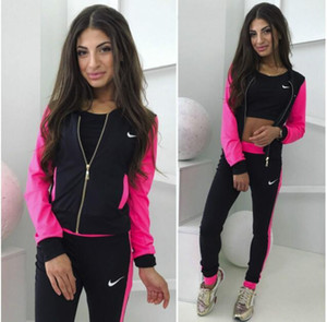 di stysay Donne Felpa Lettera Sport Suit Pullover Hoodie delle donne Set Tuta da jogging Casual Felpa + Pant Tre pezzi