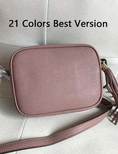 21 Couleurs Meilleure Version Top Original en Cuir Véritable Designer Soho Disco Femmes Petits Sacs À Rabat 20cm Classique Dames 'Tassel Cross Body Bag