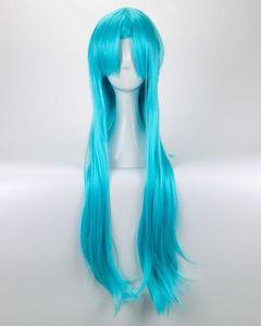 100% Yeni Yüksek Kalite Moda Resim tam dantel perukSword Art Online Yuuki Asuna Peruk Yuki Asuna Peruk Örgülü Mavi Cosplay Peruk