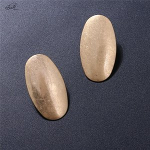 Badu Gold Stud Earring Jewelry for Woman Oval Geometric Punk Vintage Fashion 2020 Gift for Girls Wholesale Drop Shipping
