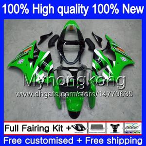 Body For KAWASAKI ZX 600 CC 6 R ZX636 ZX-6R 2000 2001 2002 212MY.165 ZX 636 600CC ZX 6R ZX-636 ZX600 ZX6R 00 01 02 Green Black Fairings