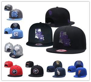 Tacchi NCAA LSU Tigers Florida Gators North Carolina Tar ricamo regolabile Il cappello ricamato Snapback Caps Nero Blu cucita Cappelli