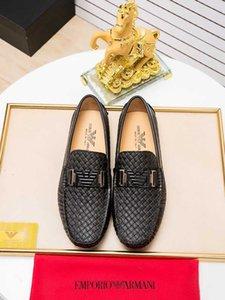 suave ocasional de la manera de los hombres y el cuero cómoda Doug orilla causal de moda los zapatos 021001