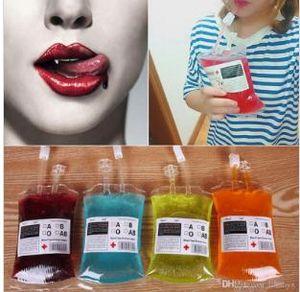 Sangue 350ml Suco Energy Drink Bag evento Halloween Party fornece Bolsa Props Vampires reutilizável pacote Bolsas C258