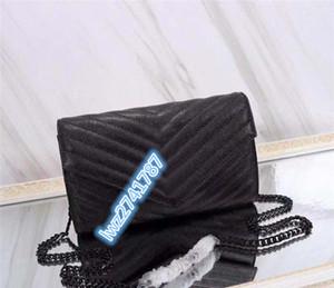 Хорошее качество Классическая женщина сумка сумка сумка мультдинг-мешок Flip Cover Натуральная кожа высокое качество с коробкой