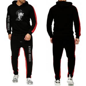 Nipsey koşuşturmasından Yeni Erkek Eşofman Sonbahar Kış Kapşonlu Sweatshirt Pantolon Set Running Sport Suit Eğitim Gym Fitness Eşofmanlar ayarlar