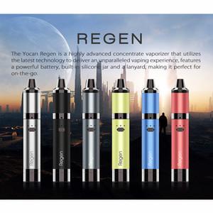 Authentische Yocan Regen Kit 1100mAh Vape Pen Kits QTC Coil Wax Vaporizer 3,0V-4.v Votage Adjustable 6 Farben