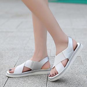 2020 Women Flats Sandal Lady Summer Sandals Female Light Soft Slides Sandals Comfort Leather Rasteirinha Feminina