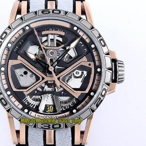 RD Top versão Excalibur Huracán RDDBEX0750 Skeleton Dial RD630 Automatic Mens Watch DLC revestido Titanium Alloy Caso Sapphire Relógios de Desporto