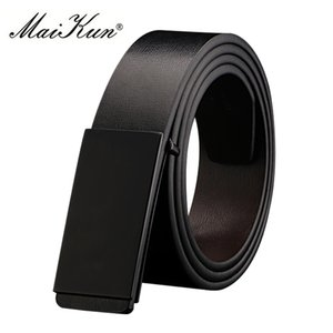 wholesale Belts for Men High Quality Smooth Buckle Synthetic Leather Male Belt Fashionable Men Belt for Jeans