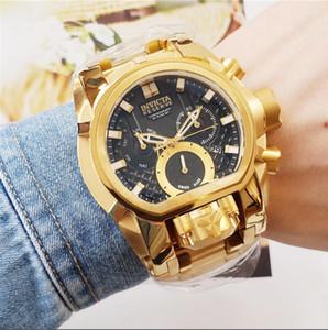 Dropshipping top Quality Suíço COSC original marca 18k ouro dois relógio trabalho de movimento multifuncional relógio de quartzo masculino + caixa original