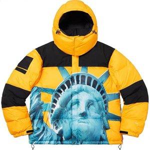 Kutu Logo Yeni Geliş Aşağı Ceket Erkek Tasarımcı Yüksek Kalite Kış Ceket Lüks Erkek Tasarımcı portresi Baskı Palto M-XL
