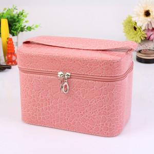 Neue Designer Frauen Comestic Bag 19203 PU-Leder-Verfassungs-Beutel wasserdichte Schönheit Wash Große Kapazitäts-bewegliche Muster-Reise-Tasche Box