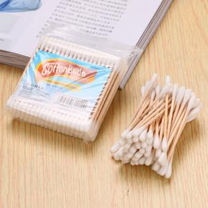 100pcs monouso Cotton fioc High Cotton fioc qualità trucco di rimozione Necessities strumento quotidiano di trasporto HL0601