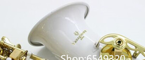 Yanagisawa A-992 White Body Gold Lacquer Key Alto Eb Tune Saxophone Instrumento de saxofón de latón de alta calidad Envío gratis