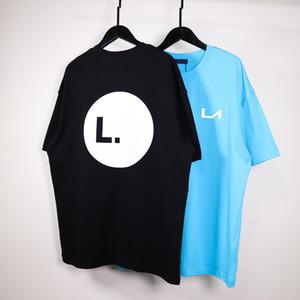 20SS Logo 3M réfléchissant Laser T-shirt haut de gamme High Street été respirant manches courtes couleur unie Mode Hommes Femmes Tee HFYMTX763