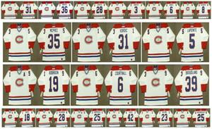 Vintage Montreal Canadiens Jersey 6 PIERRE MONDOU 27 MATHIEU SCHNEIDER 31 MARK NAPIER 36 SERGIO MOMESSO 28 PIERRE LAROUCHE 3 ENGBLOM Hockey