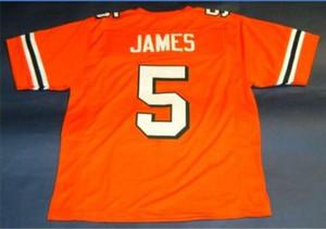 Donna-Uomo della gioventù Vintage # 5 Edgerrin James DI Miami Hurricanes College Football Jersey formato s-5XL o personalizzato qualsiasi nome o numero di maglia