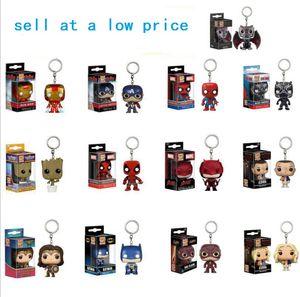 funko pop 캡틴 아이언 맨 스파이더 맨 원더 우먼 나무 그루 잇 입상 장난감 열쇠 고리 여러 모델을 저렴한 가격으로 판매