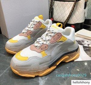 Paris 2019 Crystal Bottom Triple-S Leisure Shoes Dad Shoes Platform Triple Sneakers for Men Women Vintage Kanye Old Grandpa Trainern1 C29