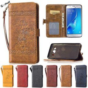 Samsung Galaxy için Flip Case SM-J510FN J5 J 5 2016 510 J510 J510FN SM-J510H / DS J510H / DS J510F SM-J510F Durumda Telefon Deri Kapak