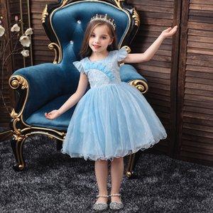 design européen et une fille américaine princesse robe FLOWE robes style robe de bal de la mode des filles de bonne qualité