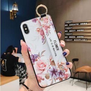 Meilleur porte-châssis du portefeuille pour iPhone 12 Mini 11 PRO Max Case pour iPhone 7 8 6 6S Plus XS Max XR Flower TPU TPU