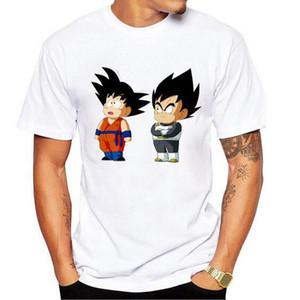 Erkek Japon Çizgi Anime Saiyan Son Goku Vegeta Dragon Ball Slim Fit 3D Casual Beyaz Pamuk Blend Kostüm Boys Kısa Kollu Tişört Hediye