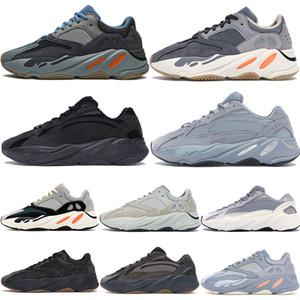 700 волна бегун Канье Уэст кроссовки светоотражающие углерода синий Магнит инерции статические утилиты черная соль мужская дизайнерская обувь Женские кроссовки