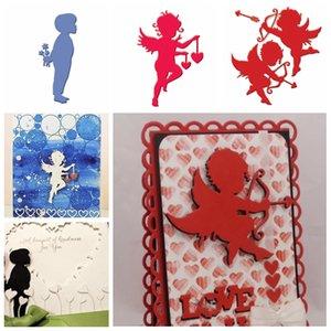 Boy Cupidon Valentine Cadeau Metal Cutting Dies pochoirs pour le bricolage scrapbooking Valentine Décoration gaufrer du papier Cartes Artisanat Die