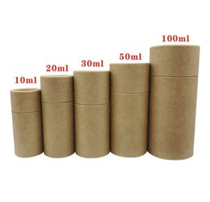 Tubos prima estuche de cartón kraft de embalaje caja de regalo caja de Kraft esencial 10ml botella de aceite - 100ml SN3099