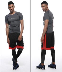 il progettista del mens t abbigliamento fitness formazione shirta esecuzione a maniche corte abbigliamento sportivo Stretch vestiti asciugatura rapida gilet allenamento fitness T-shirt