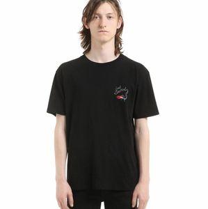 rand designer men T-shirt Klassische Sinn Paris / SLP Kurzarm Herren Lauren Tags Streifen Brief drucken Tshirt Runway Tees Casual Top