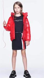 19ss дети зимняя куртка мальчик девочка одежда девушки мальчики водонепроницаемый Snowsuit золото серебро вниз Jacekts дети с капюшоном куртка роскошь B1015215T