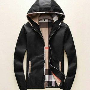 Los hombres del diseñador de moda las chaquetas Sólido Escudo cuadros color casual para hombre otoño de los muchachos de la cremallera chaquetas de los hombres de lujo al por mayor de ropa para 2020