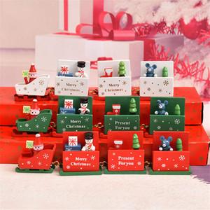 Decorações de natal trem de madeira brinquedos de Natal artesanato enfeites de brinquedos para crianças presentes de férias para crianças presentes do jardim de infância DHL