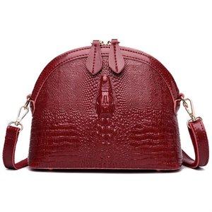 Donne Crossbody LANZHIXIN Borsa in pelle Borse Vintage Borse Donna Alligator Piccolo Shell Bag Sac A Femme principale