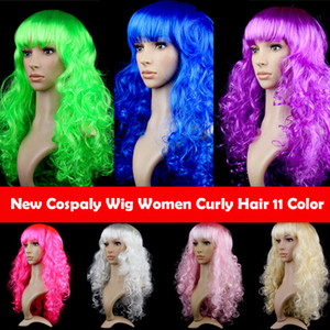 11 Color Cospaly Wig Headwear Big Wave Fiber Hair Night Party Curly Hair For Women Wig Cove Halloween Christmas Masquerade COS